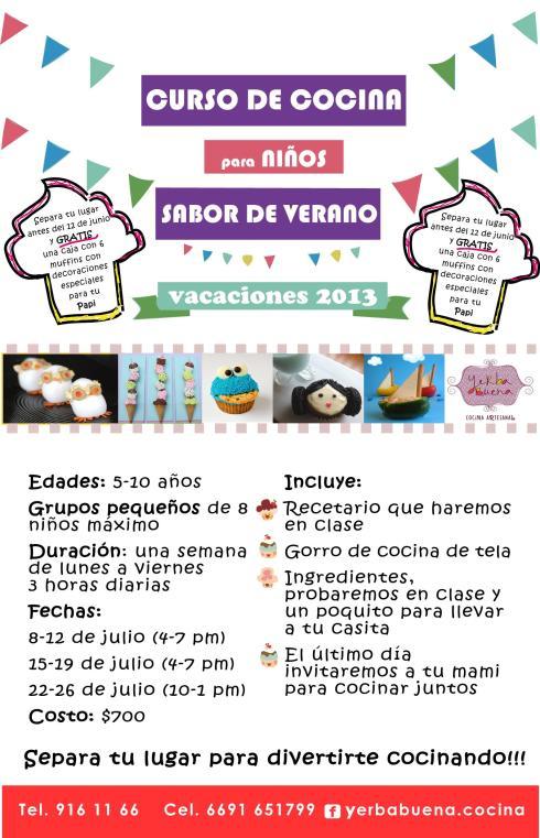 Sabor de Verano, curso de cocina para niños